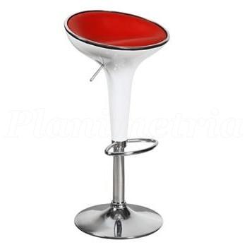 Барный стул Mario white-red
