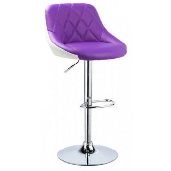 Барный стул HY 372 white-purple PU