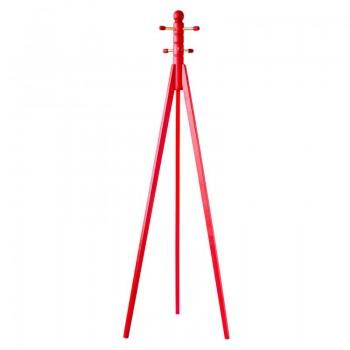Вешалка напольная Трио 1 красный