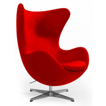 Кресло Egg red wool