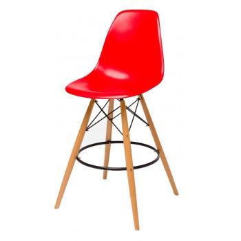 Барный стул Eames bar wood red