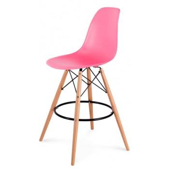 Барный стул Eames bar wood pink