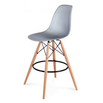 Барный стул Eames bar wood silver