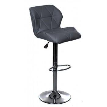 Барный стул HY 3008 New grey PU chrome