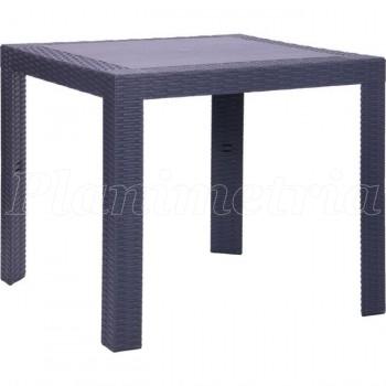 Уличный стол для дачи из ротанга Saturno антрацит