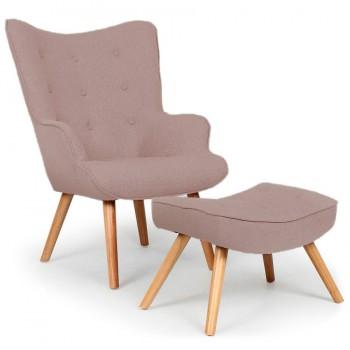Кресло Флорино светло-коричневое