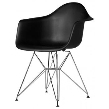 Кресло Eames armchair chrome black