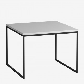 Журнальный стол DROM54-BL/WH