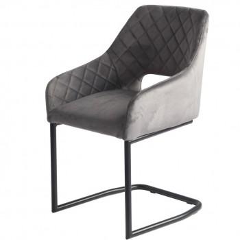 Кресло S-230 grey velvet