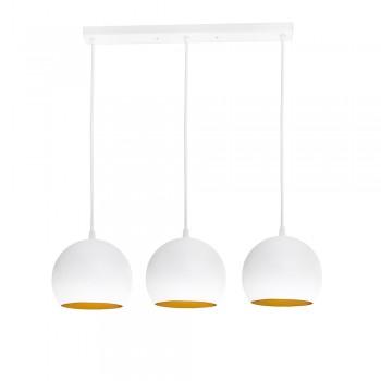Светильник Bowl С150-450-3 WhiteM/Gold