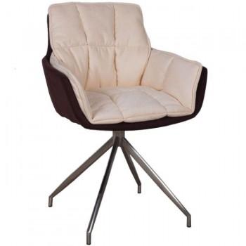 Кресло Palma коричнево-бежевое