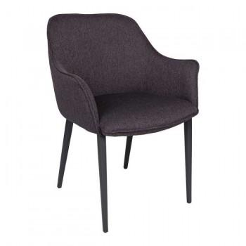 Кресло Milton черный баклажан