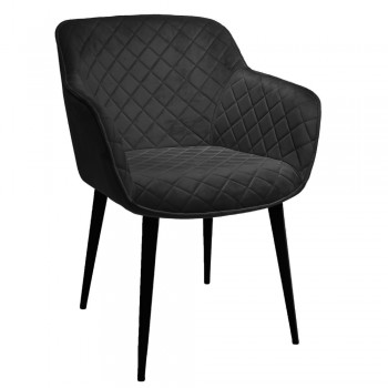 Кресло Gaby black velur