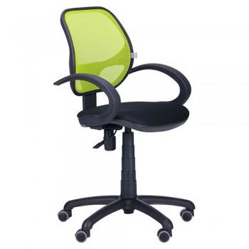 Кресло офисное Байт/АМФ-5 сиденье Сетка черная/спинка Сетка лайм