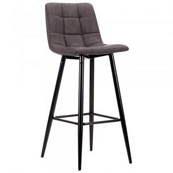 Барный стул Mobil черный/нубук базальт