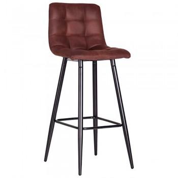 Барный стул Mobil черный/ткань cowboy PK черный кофе