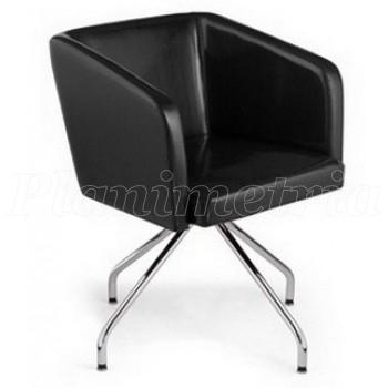Офисное кресло для зон ожидания HELLO 4S chrome ECO