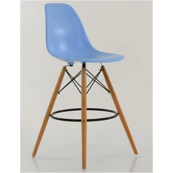Барный стул Tower wood blue