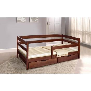 Детская кровать Ева темный орех