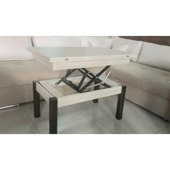 Журнальный-обеденный стол-трансформер Батерфлай дуб шамони светлый