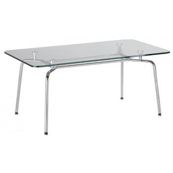 Стол журнальный HELLO Table DUO GL chrome