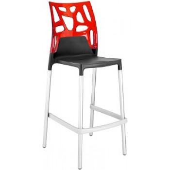 Барный пластиковый стул Ego-Rock Bar09 red