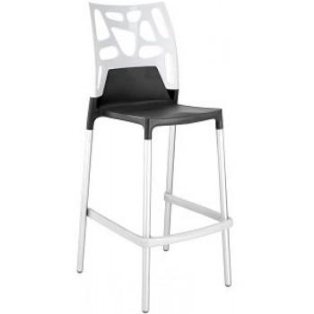 Барный пластиковый стул Ego-Rock Bar09 solid white