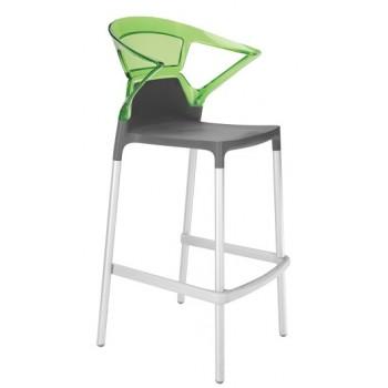 Барный пластиковый стул Ego-K Bar09 green