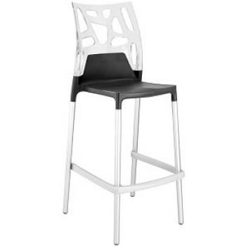 Барный пластиковый стул Ego-Rock Bar09 trasparente