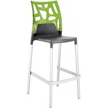Барный пластиковый стул Ego-Rock Bar22 green