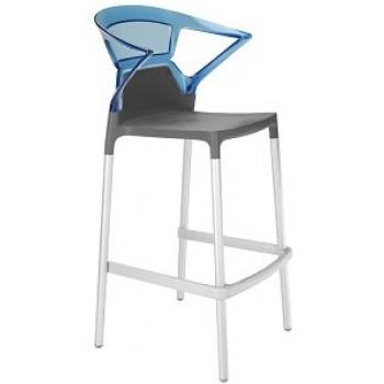 Барный пластиковый стул Ego-K Bar22 blue