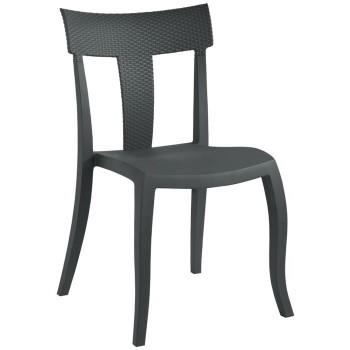 Пластиковый стул Toro-S rattan antracit