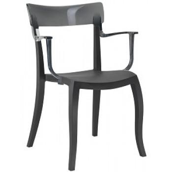 Пластиковый стул Hera-K trasparente gray black