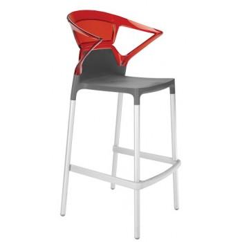 Барный пластиковый стул Ego-K Bar09 red