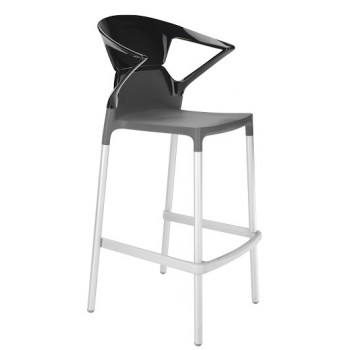 Барный пластиковый стул Ego-K Bar09 solid black