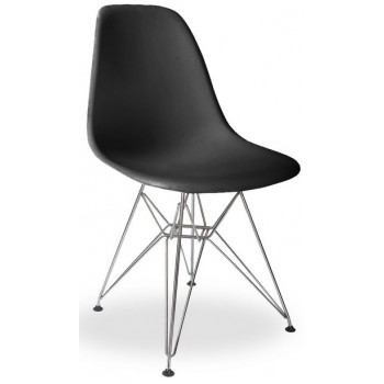 Фото Стул Eames chrome black (Еймс черный)