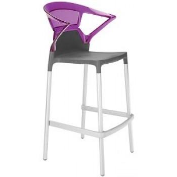 Барный пластиковый стул Ego-K Bar22 purple