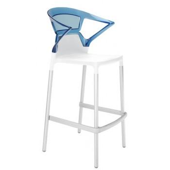 Барный пластиковый стул Ego-K Bar01 blue