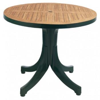 Уличный стол для дачи Diva d90 green