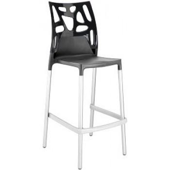 Барный пластиковый стул Ego-Rock Bar22 solid black