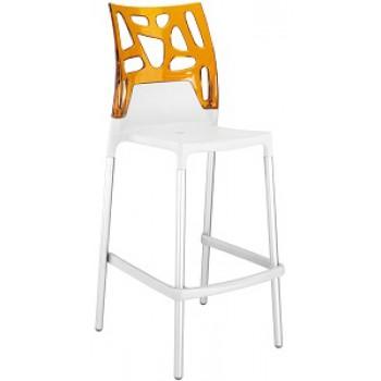 Барный пластиковый стул Ego-Rock Bar01 orange