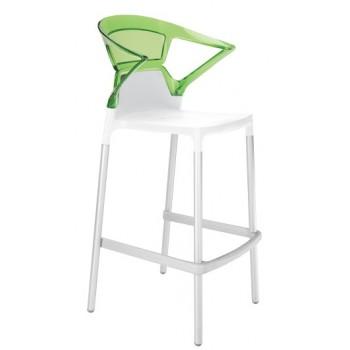 Барный пластиковый стул Ego-K Bar01 green