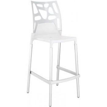 Барный пластиковый стул Ego-Rock Bar01 solid white