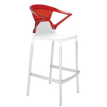 Барный пластиковый стул Ego-K Bar01 red