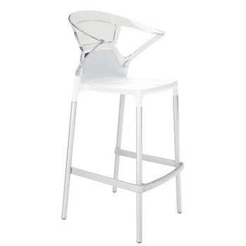 Барный пластиковый стул Ego-K Bar01 trasparente
