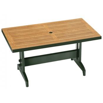 Уличный стол для дачи из ротанга Diva S green