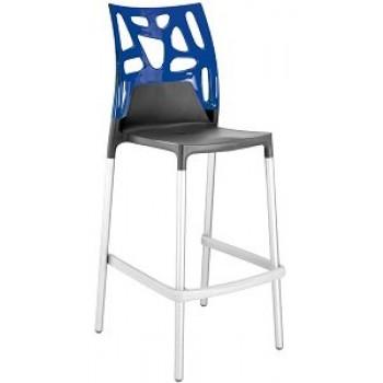 Барный пластиковый стул Ego-Rock Bar22 blue