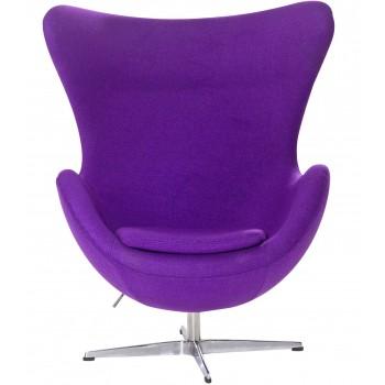 Кресло Egg purple wool