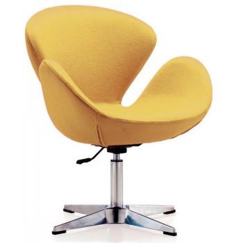 Кресло Сван желтое