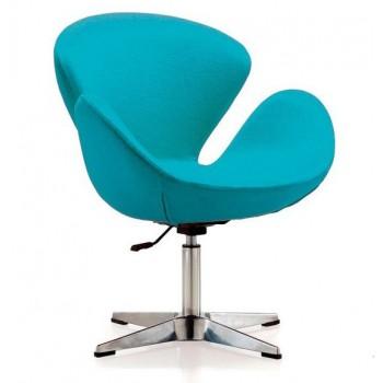 Кресло Сван голубое